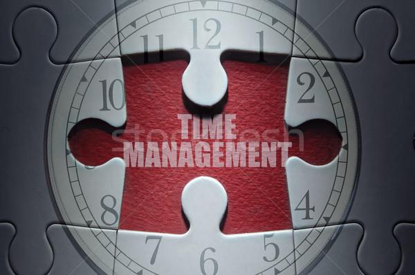 Foto stock: Rompecabezas · que · falta · pieza · reloj · rompecabezas