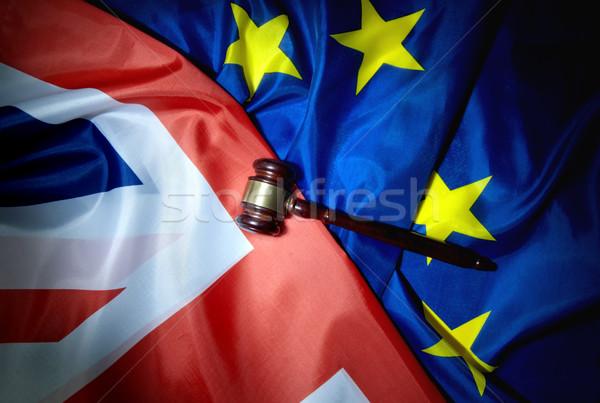 Juridiques échanges négociations marteau haut britannique Photo stock © unikpix