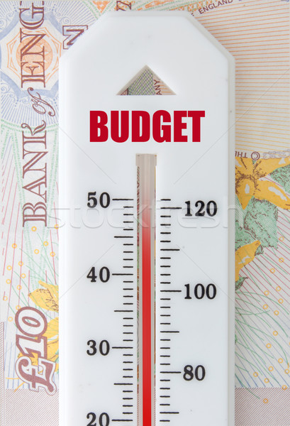 Budget thermometer top bankbiljetten business financiële Stockfoto © unikpix