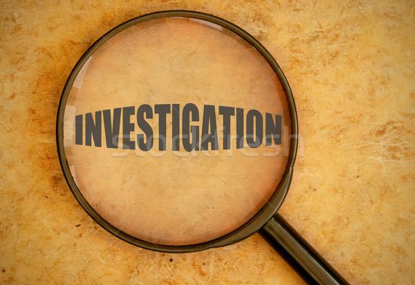 Soruşturma odaklı cam suç araştırma Stok fotoğraf © unikpix