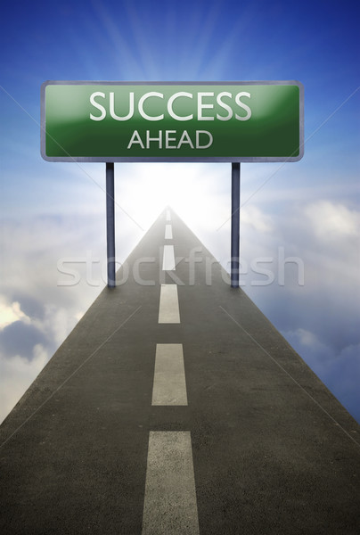 Success ahead road sign Stock photo © unikpix