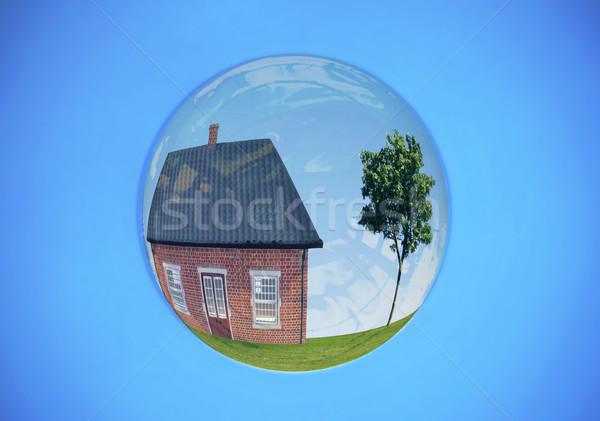 недвижимости пузыря дома холме дерево внутри Сток-фото © unikpix