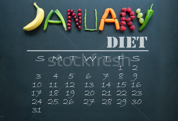 January diet calendar  Stock photo © unikpix