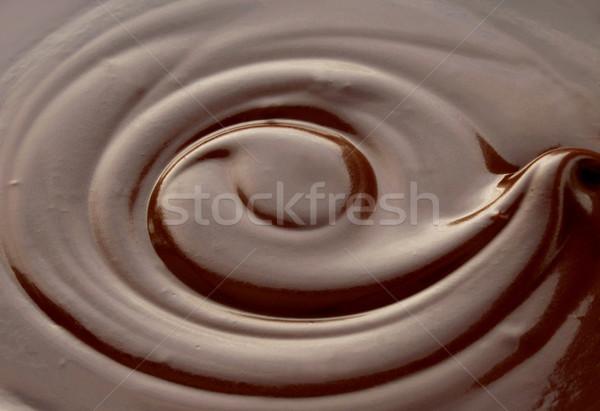 Cioccolata calda buio turbinio Pasqua cioccolato Foto d'archivio © unikpix