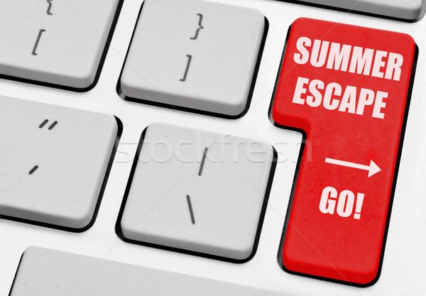 Verão escapar impresso computador voltar chave Foto stock © unikpix