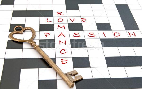 Love crossword  Stock photo © unikpix