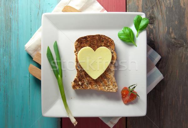 健康 サンドイッチ 心臓の形態 スライス チーズ 焼いた ストックフォト © unikpix