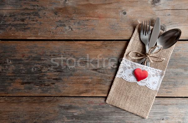 Romantic meal valentines day background Stock photo © unikpix