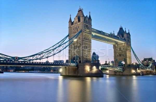 Stok fotoğraf: Tower · Bridge · Londra · nehir · thames · gün · batımı · mimari
