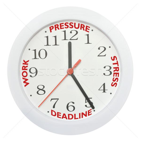Werk termijn stress werken klok kantoor Stockfoto © unikpix