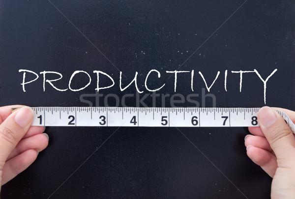 Produktiviteit tape maat woord schoolbord Stockfoto © unikpix