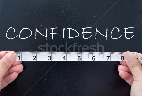 Measuring confidence Stock photo © unikpix