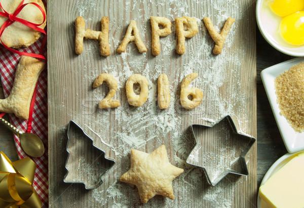 2016 new year baking background Stock photo © unikpix