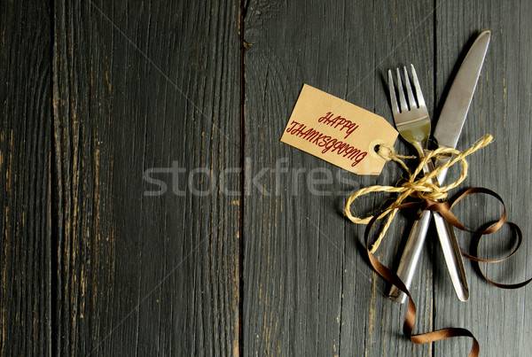 Happy thanksgiving meal background Stock photo © unikpix