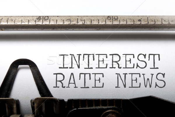 Interest rate news Stock photo © unikpix