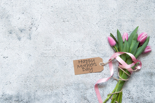 Сток-фото: день · подарок · цветы · розовый · тюльпаны