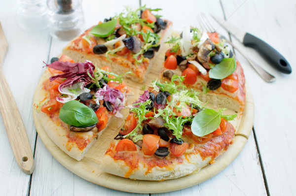 Gourmet pizza  Stock photo © unikpix