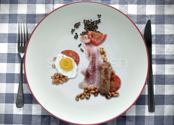 İngilizler yukarı harita kahvaltı biçim Büyük Britanya Stok fotoğraf © unikpix