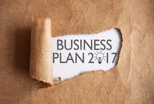 Uncovering a business plan 2017 Stock photo © unikpix