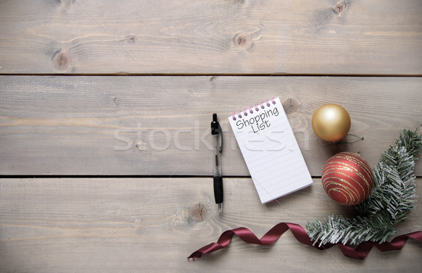 Christmas shopping list background Stock photo © unikpix