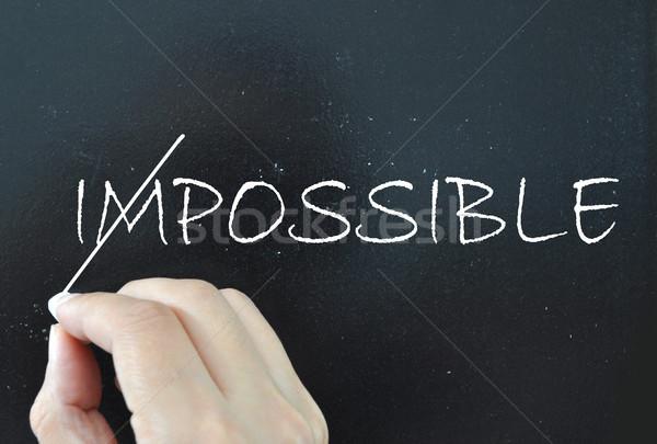 Motivierung Wort unmöglich heraus Konzept positive Stock foto © unikpix