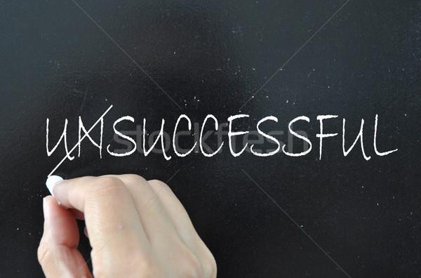 Sukces słowo nieudany na zewnątrz czarny szkolenia Zdjęcia stock © unikpix