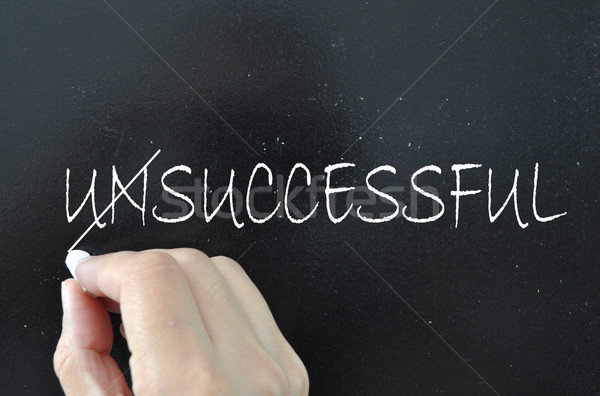 Succes woord mislukte uit zwarte opleiding Stockfoto © unikpix