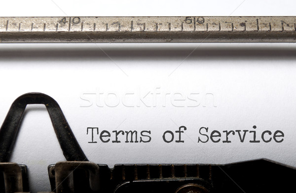 Terms of service  Stock photo © unikpix