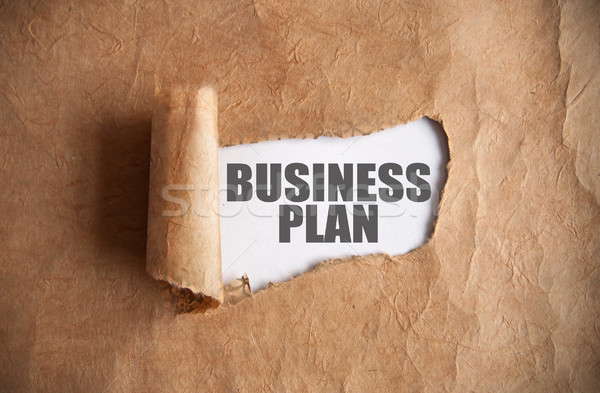 Uncovering a business plan Stock photo © unikpix