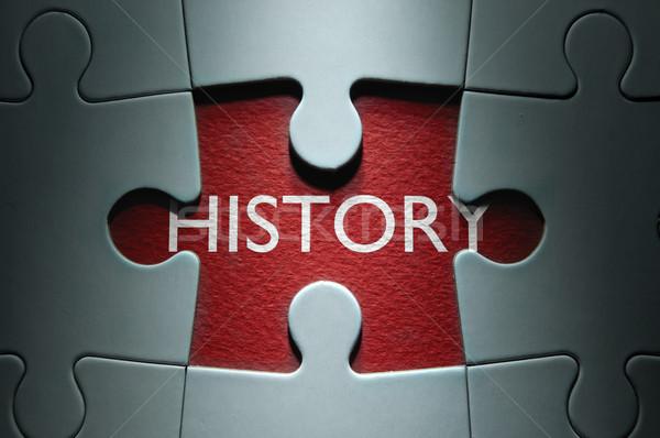 Történelem hiányzó fűrész darab puzzle kutatás Stock fotó © unikpix