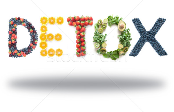Detox word made from fruits and vegetables  Stock photo © unikpix