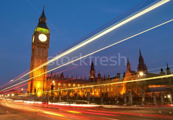 Лондон большой Бен Вестминстерский домах парламент движения Сток-фото © unikpix