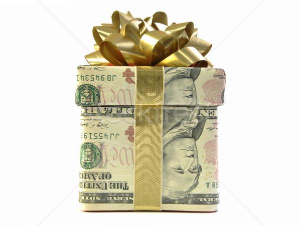 деньги шкатулке доллара золото лента Сток-фото © unikpix