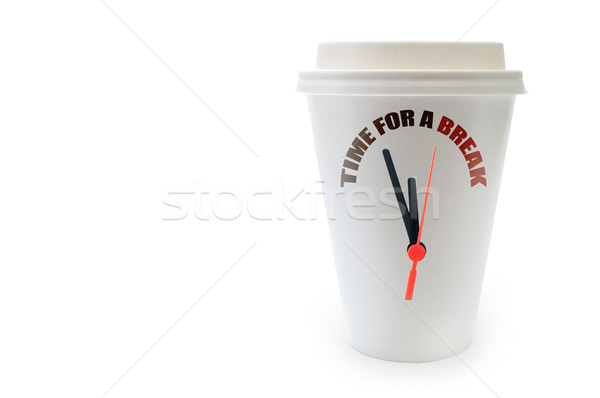 Temps pause café pause horloge mains Photo stock © unikpix