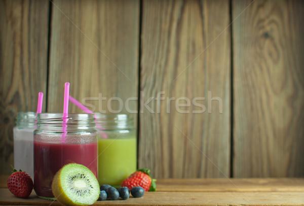 Сток-фото: ягодные · киви · копия · пространства · продовольствие · фрукты