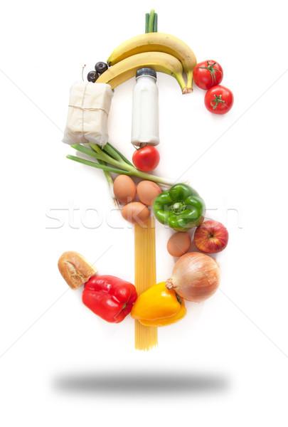 Dollar sign food groceries  Stock photo © unikpix