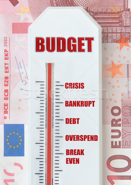 Budget thermometer top euro bankbiljetten business Stockfoto © unikpix