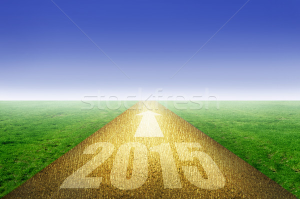 2015 gold road  Stock photo © unikpix