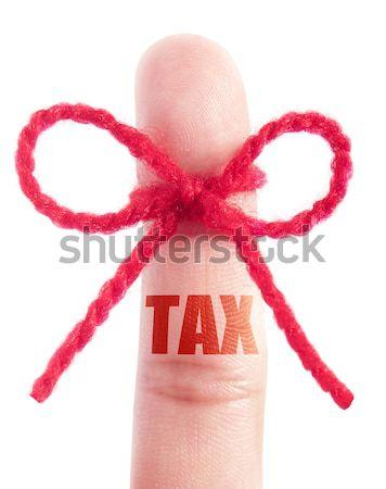 пальца красный пряжи жизни подчеркнуть баланса Сток-фото © unikpix