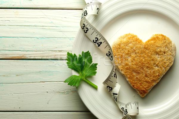 Healthy heart toast Stock photo © unikpix