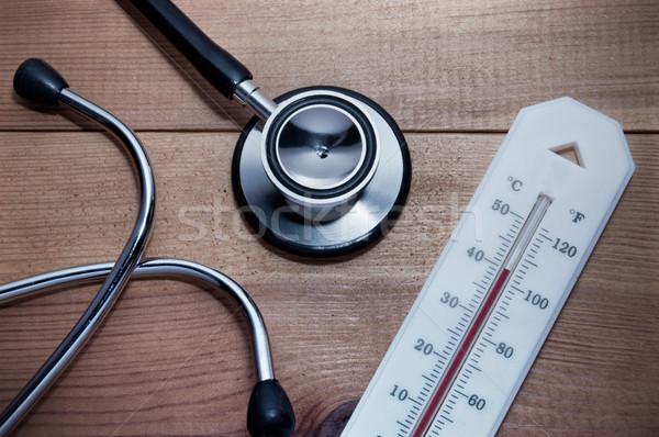 Stethoscope and thermometer Stock photo © unikpix