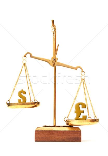 Moneda valor dólar libra símbolo dinero Foto stock © unikpix