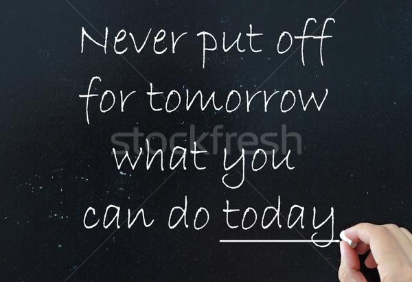 ストックフォト: モチベーション · やる気を起こさせる · ことわざ · 違い · 今日