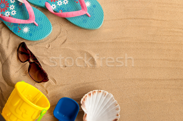 Summer beach holiday background Stock photo © unikpix