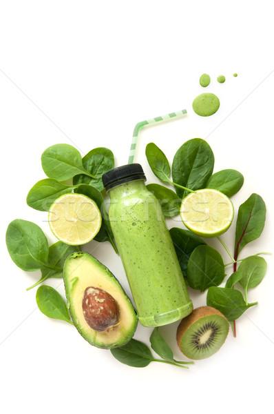 Сток-фото: белый · пить · зеленый · продовольствие