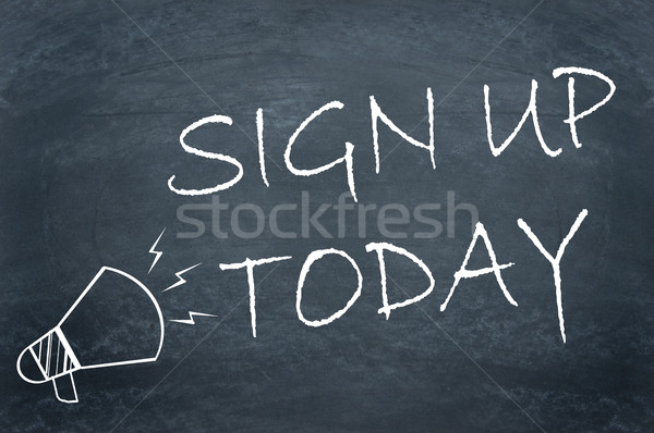 Sign up now Stock photo © unikpix