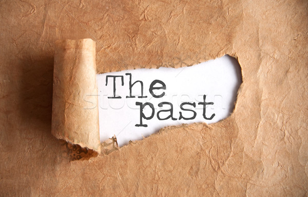 The past paper scroll uncovered Stock photo © unikpix