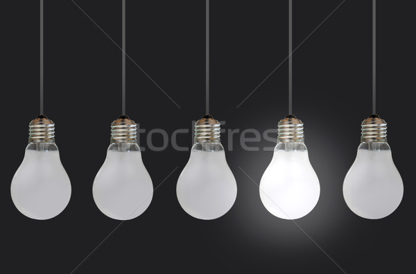 Stock photo: Light bulbs
