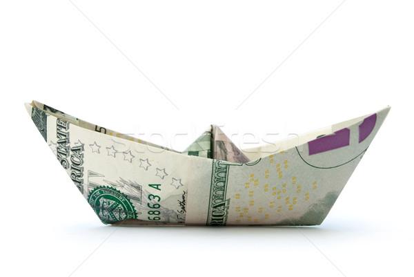 Dollar paper boat  Stock photo © unikpix