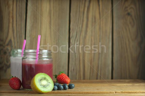 Berry smoothies Stock photo © unikpix